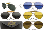 Air Force Style Sunglasses With Case