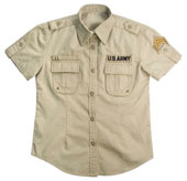 Womens Vintage Military Shirts Khaki