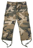 Girls Camouflage Capris Girls Subdued Camo Capri Pants