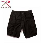 Military Cargo Shorts Black Vintage Paratrooper Cargo Shorts