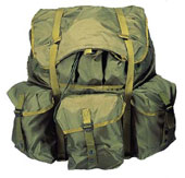 Military GI Type Alice Packs - Medium W/Frame Olive Drab Alice Pack