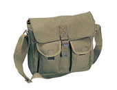 Canvas Ammo Shoulder Bags - Olive Drab