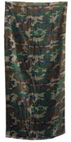 Camouflage Beach Towel Woodland Camo Towel