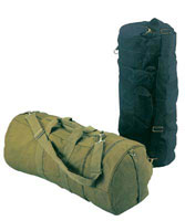 Sports Bags - Olive Drab Double-Ender Canvas Sport Bag