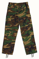 Camouflage Pants Woodland Camo Relaxed Fit Fatigue Pants 2XL