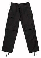 Fatigue Pants Black Relaxed Fit Fatigues