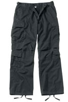 Vintage Paratrooper Fatigues Black Cargo Pants