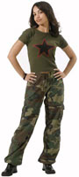 Womens Camouflage Fatigues Womens Vintage Paratrooper Fatigues