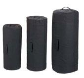 Giant Canvas Military Duffle Bags - Side Zipper Black Duffles