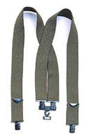 US Made Supsenders Olive Drab Pants Suspenders