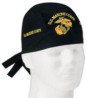 Military Headwraps Marines Globe and Anchor Headwrap