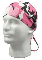 Camouflage Headwraps Pink Camo Wrap