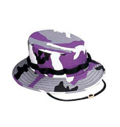 Kids Camo Jungle Hats - Violet Camouflage