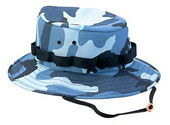 Kids Camo Jungle Hats - Sky Blue Camouflage