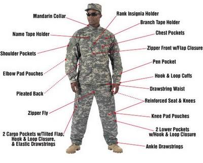 Camouflage Shirts ACU Digital Camo Combat Shirt 2XL