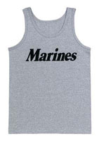 Military Marines Tank Top - Grey Physical Training Tanks