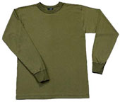 Kids Military Shirts Olive Drab Long Sleeve Shirt