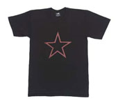 Military T-Shirts Red China Star Black T-Shirt