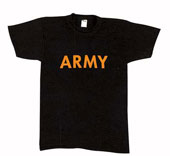 Army T-Shirts Black W/Gold Army Logo Shirt 2XL