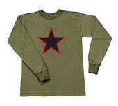 Red China Star Shirts Long Sleeve China Star Shirt 3XL