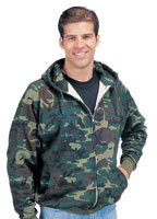 Camouflage Sweatjackets Woodland Camo Jacket 4XL