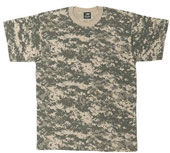 Camouflage T-Shirts ACU Digital Camo Shirt 4XL