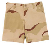 Kids Camouflage Shorts Tri-Color Desert Camo Shorts