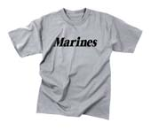 Military Marines T-Shirts - Grey Physical Training Shirt 2XL
