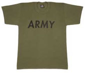 Military T-Shirts - Olive Drab Army Logo T-Shirt