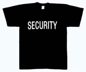 Raid Shirts Security Logo Raid T-Shirt Size 6XL