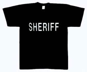 Sheriff T-Shirts - 2 Sided Raid Shirt