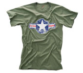 Military T-Shirts Vintage Army Air Corp Shirt 2XL