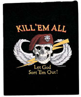 US Military Graphic Shirts - Kill Em All Let God Sort Em Out!