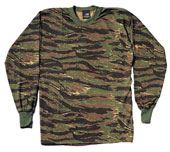 Camouflage T-Shirts Tiger Stripe Camo Long Sleeve Shirt 3XL