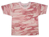 Pink Camouflage Baby T-Shirts