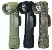 Genuine GI Military Flashlights - 2 D-Cell Olive Drab