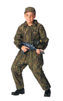 Kids Hunters Camouflage Smokey Branch Insulated Coveralls