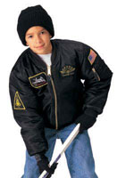 Kids MA-1 Flight Jackets - Top Gun Style Childs Flight Jacket