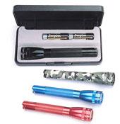 Black Mini Maglite Flashlights with Gift Box