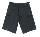 Fatigue Shorts Xtra Long Black Cargo Shorts 2XL