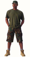 Camouflage Shorts Xtra Long Woodland Camo Shorts