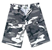 Camouflage Shorts Xtra Long City Camo Cargo Shorts 3XL
