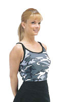 Camo Tank Tops - Womens City Camouflage Tank Top