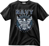 Military Shirts Navy Emblem Military T-Shirt 2XL