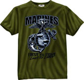 Military Shirts Marines First To Fight Graphic Shirt