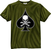 Military Shirts Death Spade Military T-Shirt 2XL