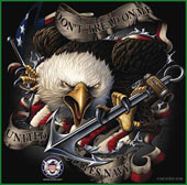Military T-Shirts Black Ink US Navy Eagle Shirt 2XL