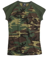 Womens Camouflage Woodland Camo Womens T-Shirt