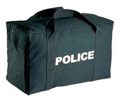 Police Logo Black Gear Bags