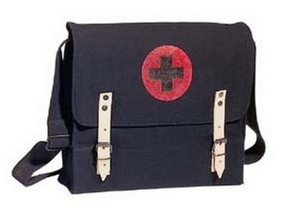 Military NATO Medic Bags - Black Canvas Medical Bags